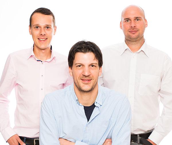 Johannes Bär, Alexander Brack und Georg Schmid, Geschäftsführer der element GmbH