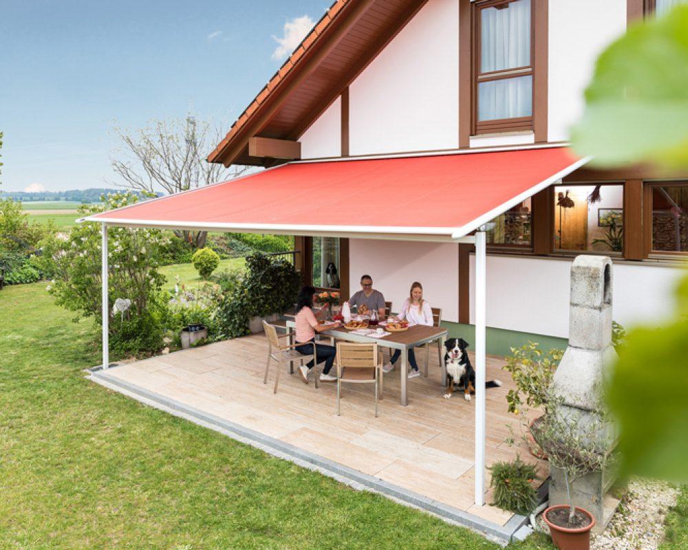 Pergola-Markise für eine große Terrasse