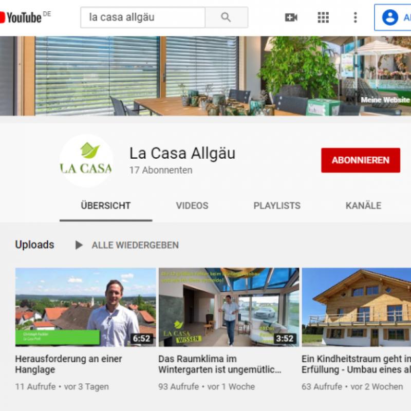 Erhalten Sie spannende Einblicke auf unserem eigenen YouTube Kanal